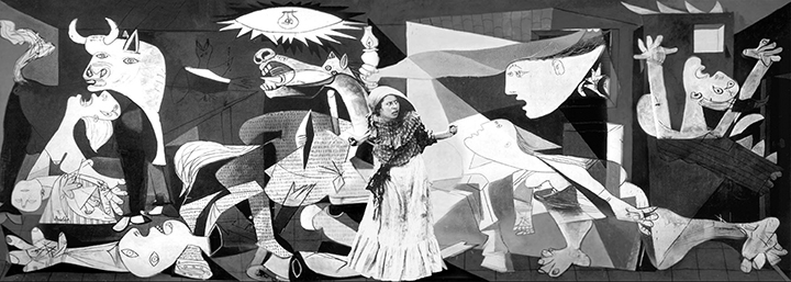 'Guernica' painting by Picasso with La Rielera (Art Intervention)